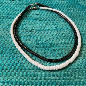 2 Shell/beaded necklaces, unisex beach BoHo style